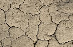 Dried-up soil, cracks, aridity Stock Photos