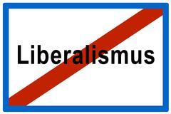 Symbolic picture, failed liberalismus (ger. for liberalism), liberal politics Stock Photos
