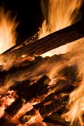 Solstice bonfire on mt. wallberg near tegernsee (tegern lake), bavaria, germa Kuvituskuvat