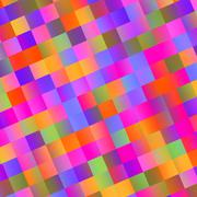 Colorful abstract mosaic background - tiles Stock Illustration
