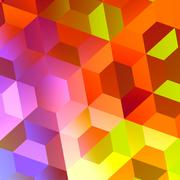 abstract colorful hexagons background - web design - stock illustration