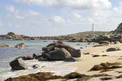 lighthouse at cape leeuwin near augusta, leeuwin-naturaliste national park, w - stock photo