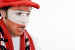 Austrian football supporter (soccer fan) Kuvituskuvat