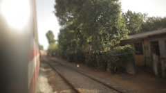 Tilt-shift shot from the train Stock Footage