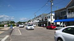 Summer traffic bay street watch hill, rhode island Stock Footage