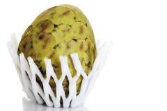 cherimoya fruit (annona cherimola) - stock photo