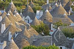 Stock Photo of trulli, round houses of alberobello, unesco world heritage site, valle d\'itr