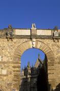 arco de los gigantes (giants\' arch), antequera, málaga province, andalusia, - stock photo