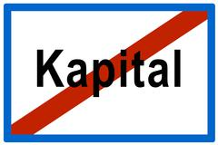 symbolic picture, no more kapital (ger. for assets) - stock photo