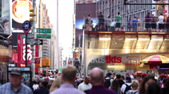 TKTS Tickets Times Square People NYC New York City USA Tourism Tourists 4K - stock footage