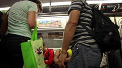 Passengers Riding MTA Subway Train New York City NYC USA 4K Stock Footage