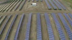 Aerial View of Newly Built Solar Energy Plant Stock Footage