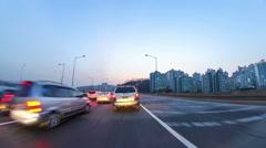 Seoul Driving Night Traffic 371 Stock Footage