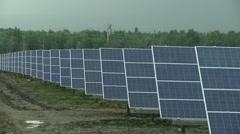 Newly Built Solar Energy Plant Stock Footage