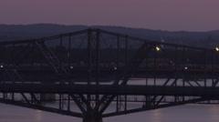 Ottawa Canada - Interprovincial Bridge to Quebec Stock Footage