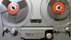 "1/4"" Reel to Reel Tape Recorder 3 - stock footage"