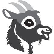 the head of goat - stock illustration