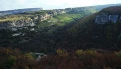 Mountain plateau of Burunchak. Aerial View, 4K resolution. Crimea. Stock Footage