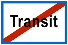 Stock Photo of symbolic picture, no more transit