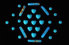 Blue howlite turquoise gem stone Kuvituskuvat