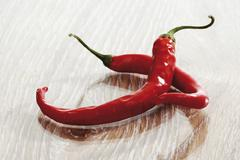 Red chili peppers (capsicum) Stock Photos