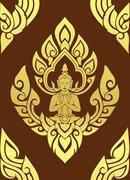 Thai traditional art. thai art background, thai art pattern, vector. Stock Illustration