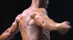 Male Body Builder in Fitness Competition Stock Footage