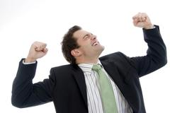 young, successful businessman - stock photo