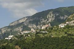 Stock Photo of ravello, mountain village along the amalfi coastline, campania, italy