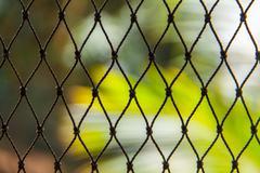 Green nylon fishing net Stock Photos