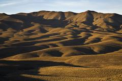 Stock Photo of hill landscape in the first morning light, central andes, argentina, south am