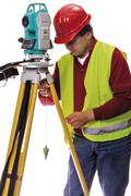 surveyor - stock photo