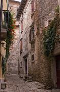 Street scene in grosznjan, istria, croatia, europe Stock Photos