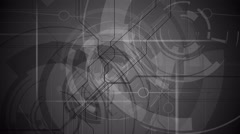 Gray tech background in the dark space. Full HD and 4K resolution. - stock footage
