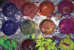 Stock Photo of acrylic paints, palette