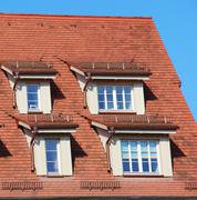 Dormers on a roof Stock Photos