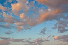 Festive Golden sunset over the Adriatic sea Stock Photos