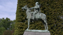 Paris Simon Bolivar statue 4k Stock Footage