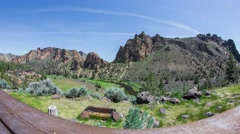 Smith Rocks Dolley Porch 547 Stock Footage
