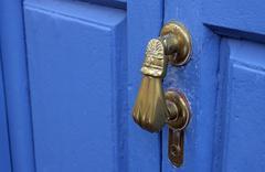 Doorknockers knockers in los llanos la palma canary islands spain Stock Photos