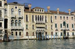 Facades of houses at canale grande in venice italy Stock Photos