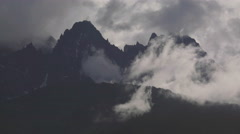 Cathedral Peaks Craggy Spires TL 4K Stock Footage