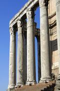 Stock Photo of temple of antoninus and faustina forum romanum rome italy
