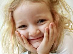 Lucky, 4 years old girl Stock Photos