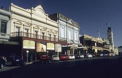 Historic buildings in the main street of ballarat, victoria, aus Stock Photos