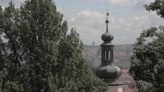 Spire of Prague Castle Stock Footage