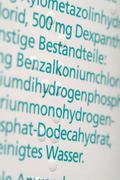 embossed printing on medicament packing starting from september 2006 all phar - stock photo