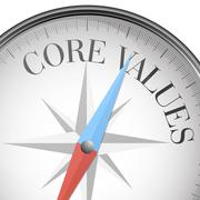 compass core values - stock illustration