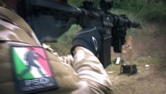 Tactical carabine rifle Stock Footage