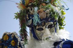 Portrait of mermaid mask at carneval in venice, italy Stock Photos